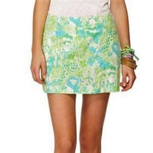 Lilly Pulitzer It's a Zoo Print Skirt/Skort Sz 00